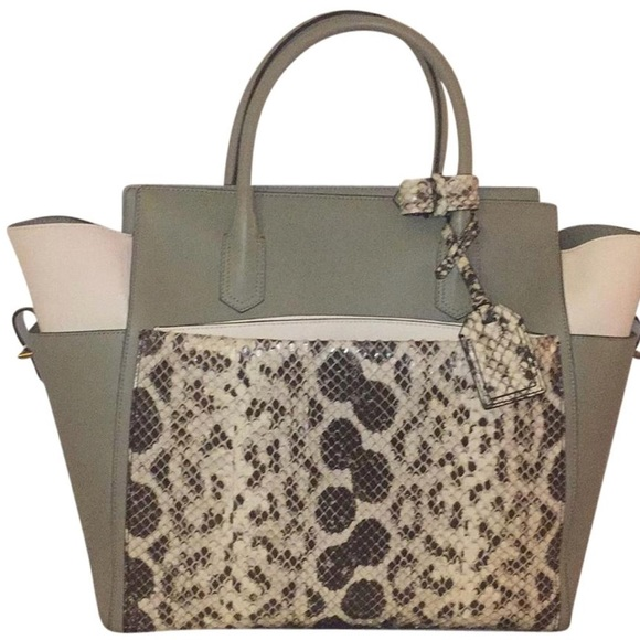 bbb6489f8938 Reed Krakoff Soft Atlantique Exotic Milled Tote